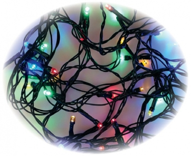 LED osvětlení vánoční 120 světel řetěz barevný 12m