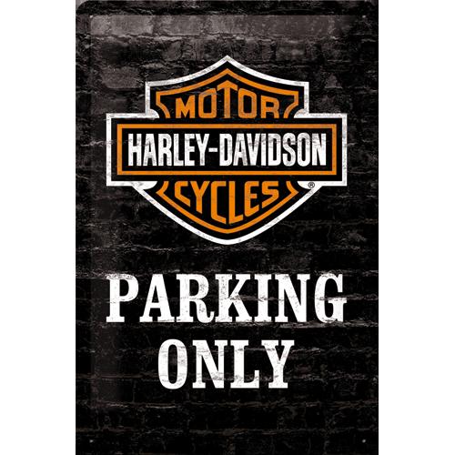 Nostalgic Art Plechová cedule Harley Davidson parking only Rozměry: 20x30cm
