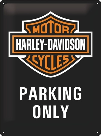 Nostalgic Art Plechová cedule Harley Davidson parking only Rozměry: 30x40cm
