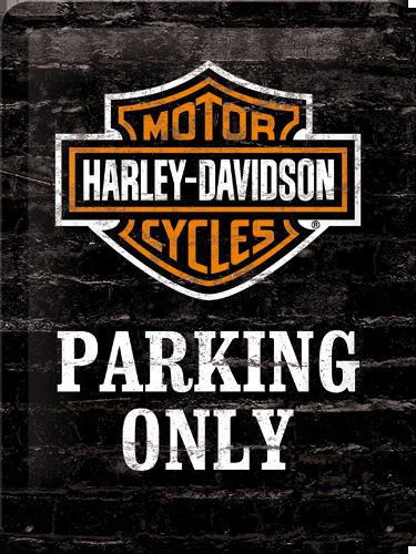 Nostalgic Art Plechová cedule Harley Davidson parking only Rozměry: 15x20cm