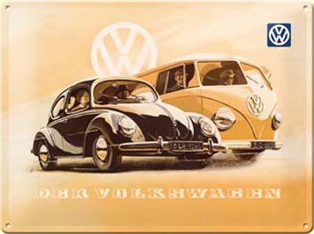 Nostalgic Art Plechová cedule Der Volkswagen 30x40cm Rozměry: 30x40cm