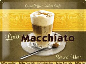 Nostalgic Art Plechová cedule Latte Macchiato Rozměry: 30x40cm