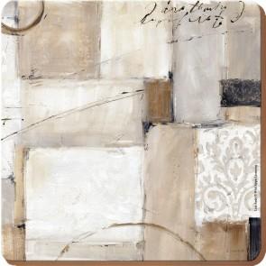 Creative Tops Korkové prostírání Neutral abstract Rozměry: 12x12cm - 4ks