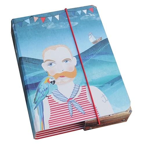 Kazeto Box na sešity námořník 23x17x4cm