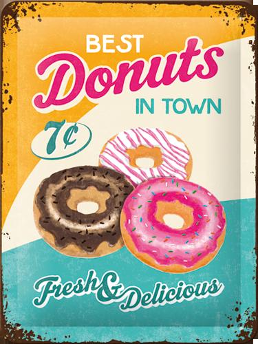 Nostalgic Art Plechová cedule Donuts Rozměry: 15x20cm