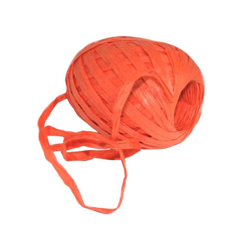 Stuha vázací papírová 30m Barva: oranžová