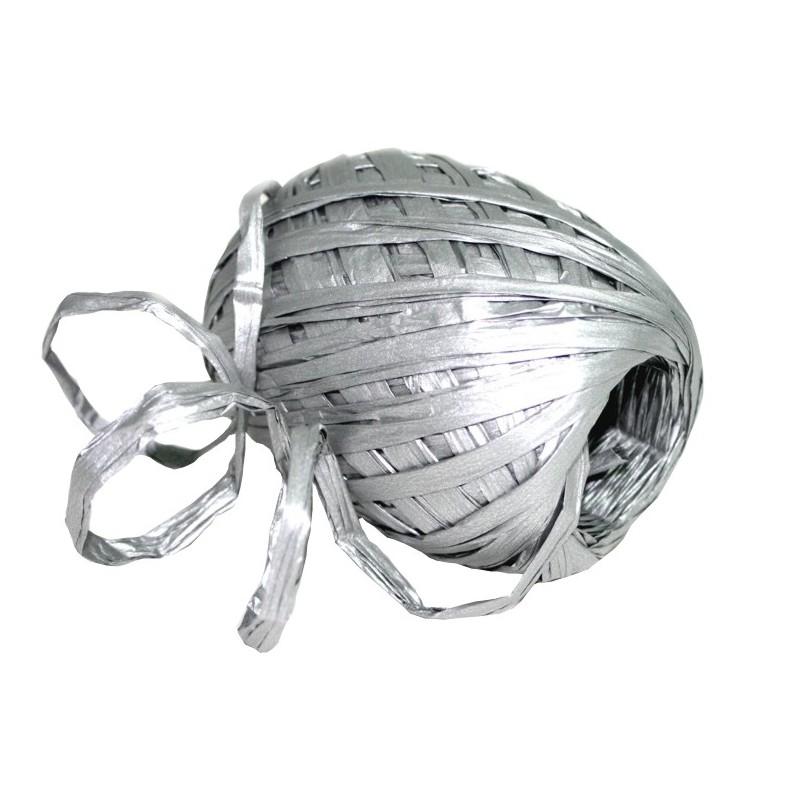 Stuha vázací papírová 30m Barva: stříbrná