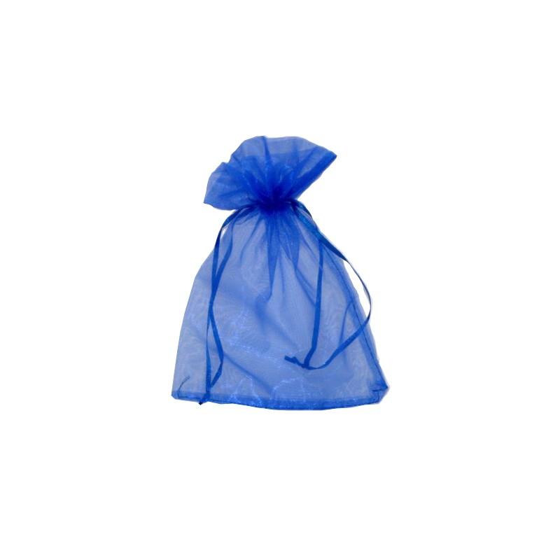 Sáček dárkový organza modrý 20x28cm