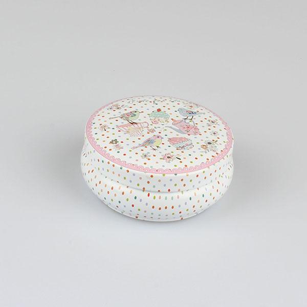 Dóza plechová s puntíky 8,5×3,5cm