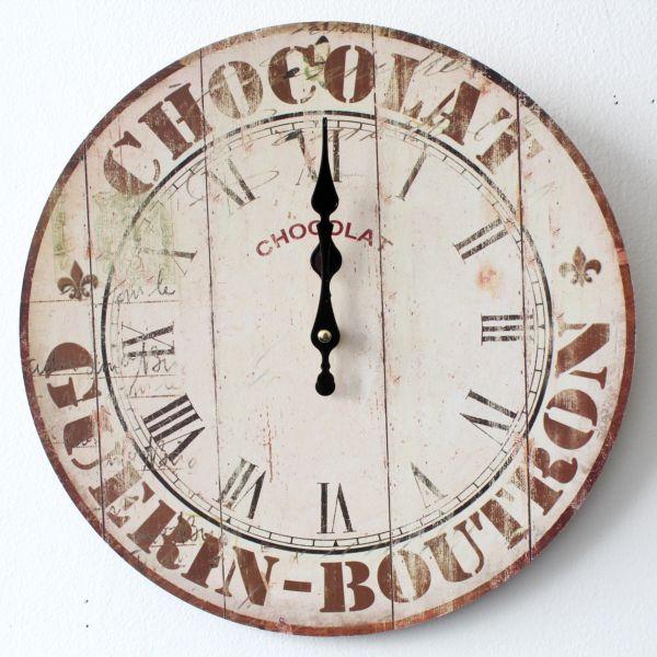 HODINY Nástěnné hodiny 34cm Chocolate Průměr: 34cm