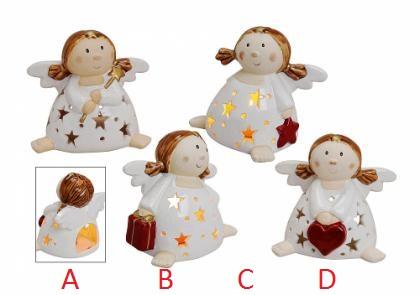 Svícen anděl keramika 15cm Provedení: A