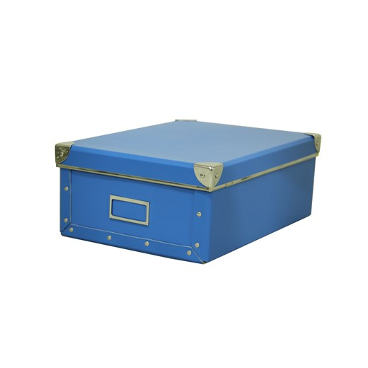 Kazeto Krabice hranatá modrá 24,5x34x13cm