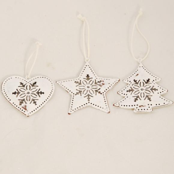 Bílá vánoční ozdoba Provedení: Stromek