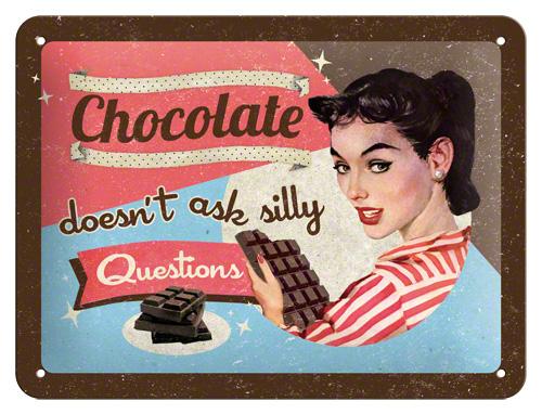 Nostalgic Art Plechová cedule Chocolate Rozměry: 15x20cm