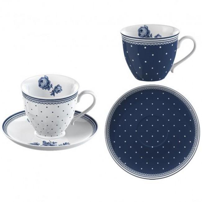 Creative Tops Hrnky na espresso VINTAGE INDIGO | porcelán | 80ml | set 4ks