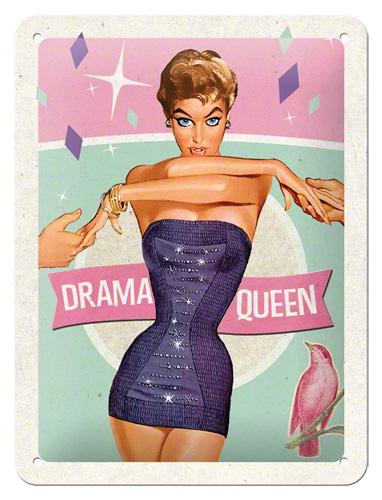 Nostalgic Art Plechová cedule Drama Queen Rozměry: 15x20cm