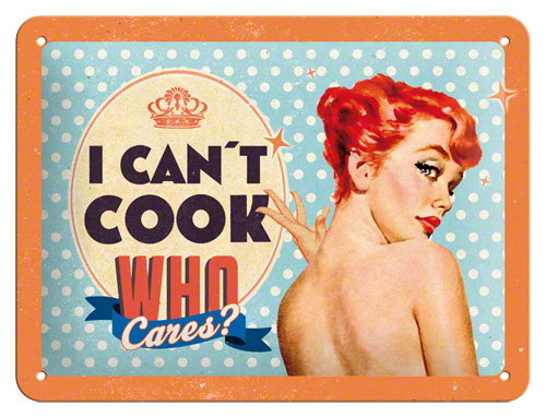 Nostalgic Art Plechová cedule I can't cook Rozměry: 15x20cm