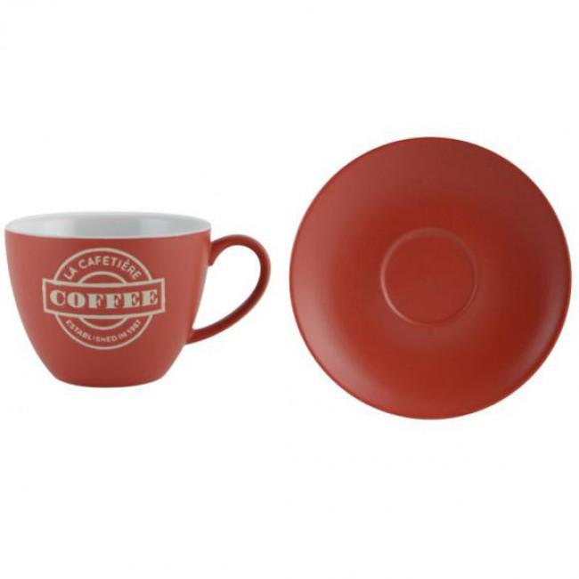 Creative Tops Šálek s podšálkem červený keramika 280ml