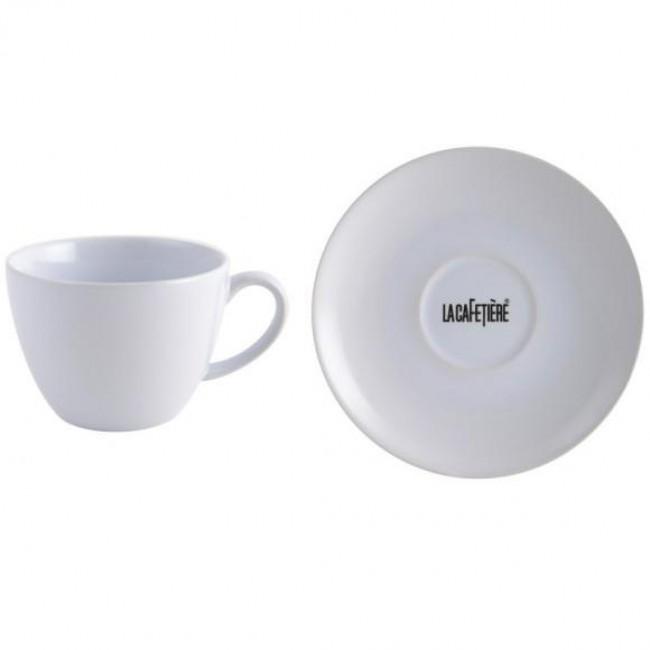Creative Tops Šálek s podšálkem bílý keramika