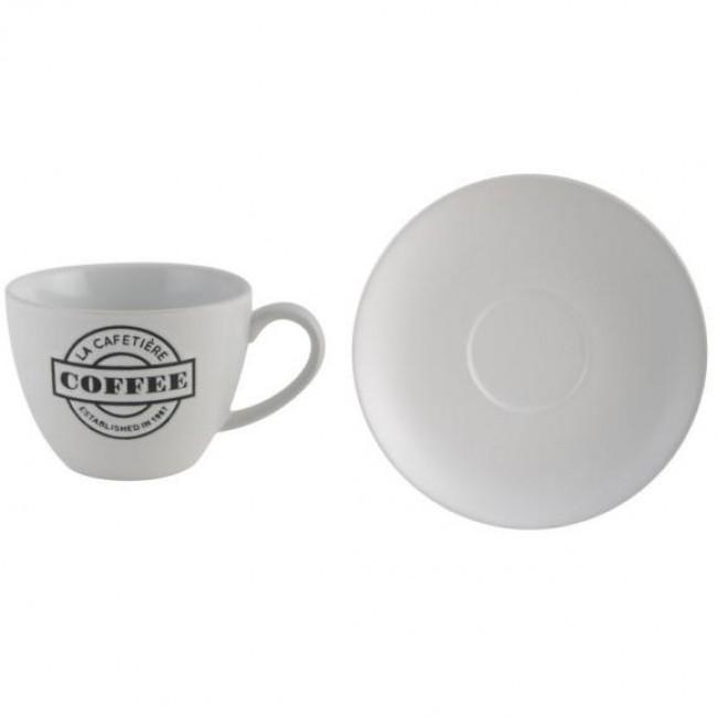 Creative Tops Šálek s podšálkem bílý keramika 280ml