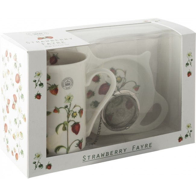 Creative Tops Čajová sada STRAWBERRY FAYRE | porcelán | 17x21x9cm | set 3ks
