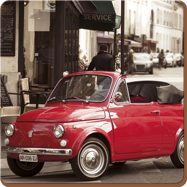 Creative Tops Korkové prostírání Retro Fiat Rozměry: 10x10cm - 4ks