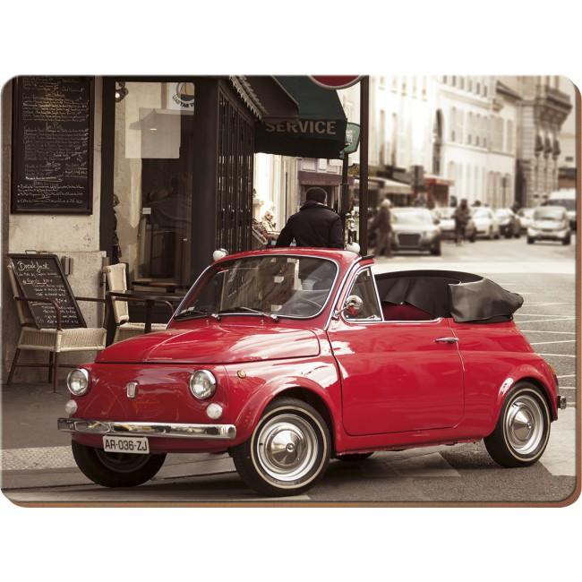 Creative Tops Korkové prostírání Retro Fiat Rozměry: 21x29cm - 4ks