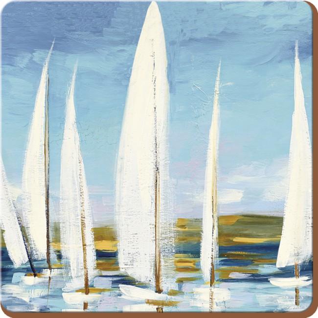 Creative Tops Korkové prostírání Sailing Boats Rozměry: 10x10cm - 4ks