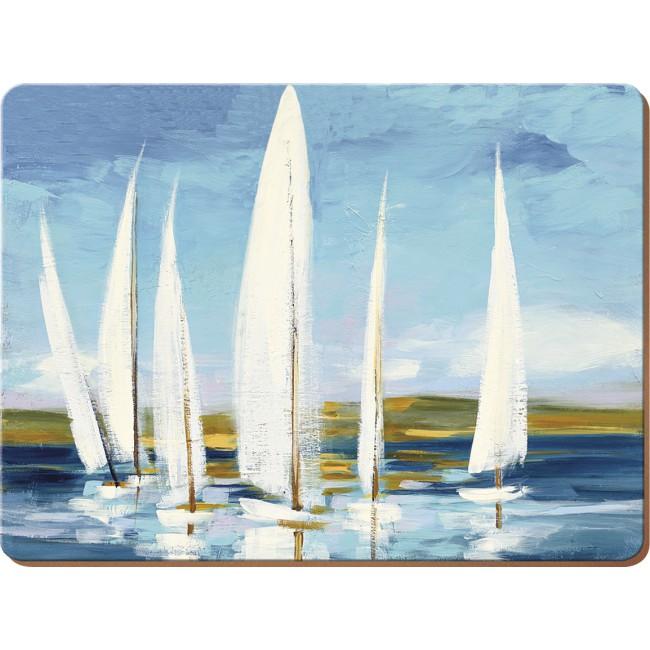 Creative Tops Korkové prostírání Sailing Boats Rozměry: 21x29cm - 6ks