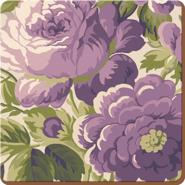 Creative Tops Korkové prostírání Purple Floral Rozměry: 10x10cm - 4ks