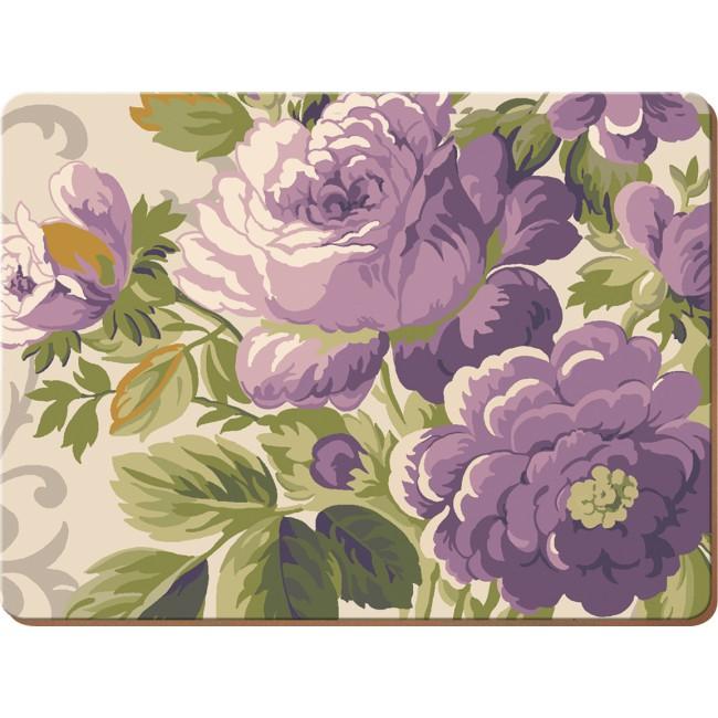 Creative Tops Korkové prostírání Purple Floral Rozměry: 29x40cm - 2ks