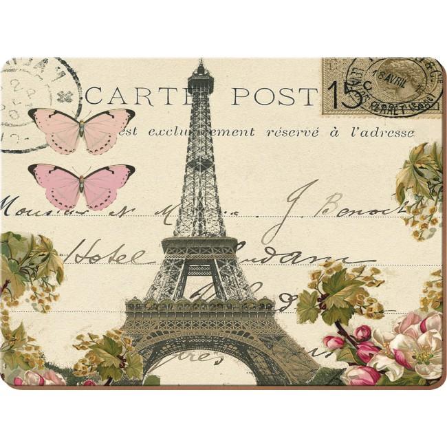 Creative Tops Korkové prostírání Paris Postcard Rozměry: 21x29cm - 4ks