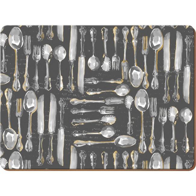 Creative Tops Korkové prostírání Cutlery Rozměry: 21x29cm - 4ks