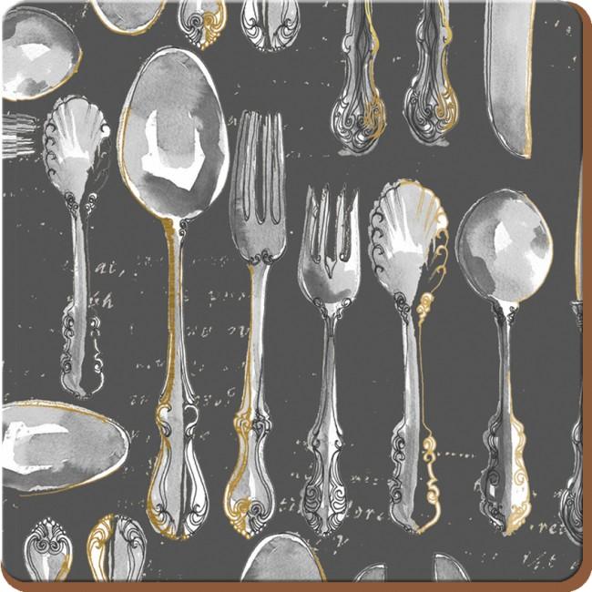 Creative Tops Korkové prostírání Cutlery Rozměry: 10x10cm - 4ks