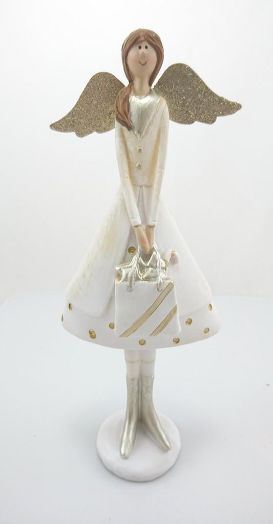 Anděl s kabelkou 24x10x5cm