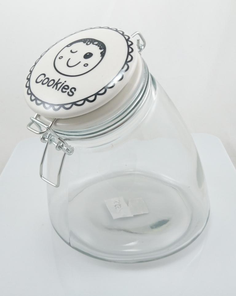 Dóza na sušenky sklo 21x17x17cm