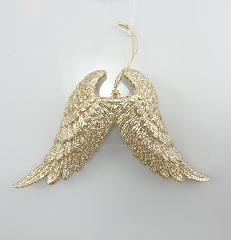 Andělská křídla zlatá 16x10x3cm