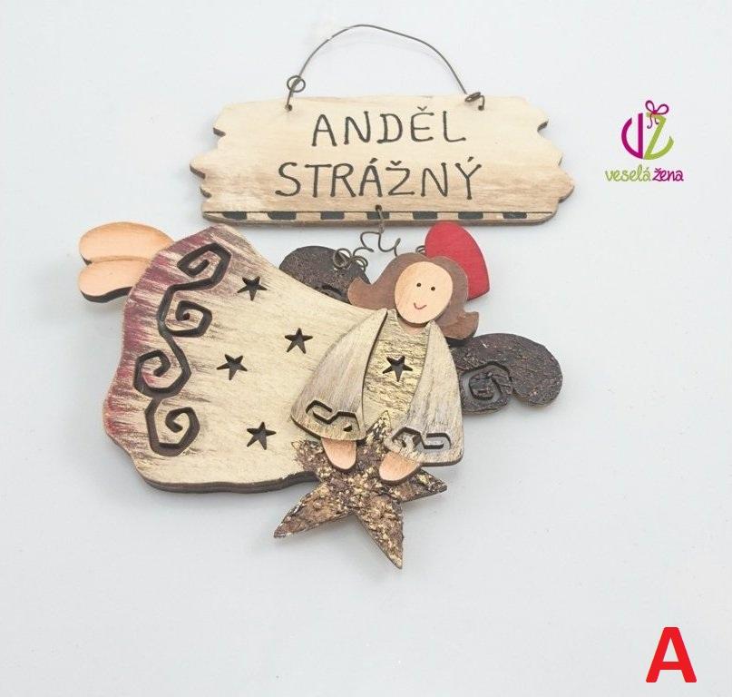 Anděl strážný ČERVENÁ sukně 19x13x1xm Provedení: A