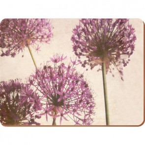 Creative Tops Korkové prostírání Purple Allium Rozměry: 21x29cm - 6ks