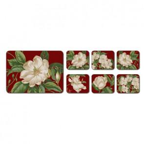Jason Korkové prostírání Garden Images Rozměry: 9,5x11,5cm - 6ks, Barva: červená
