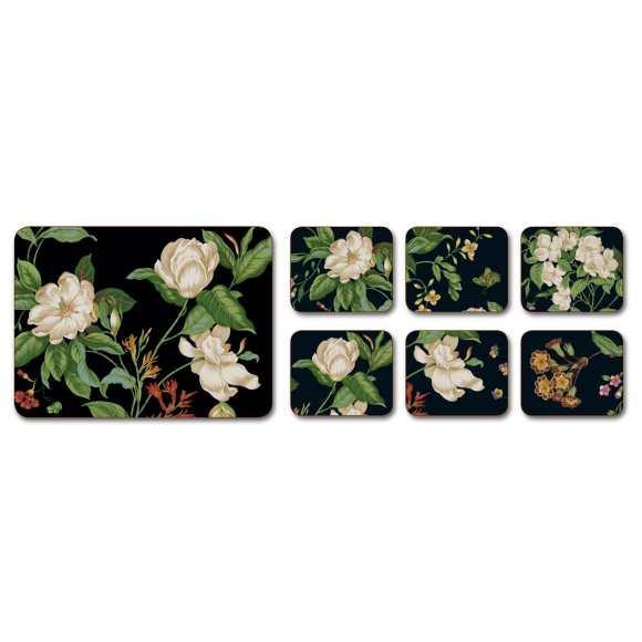 Jason Korkové prostírání Garden Images Rozměry: 9,5x11,5cm - 6ks, Barva: černá