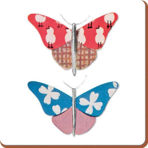 Creative Tops Korkové prostírání Butterfly Charm Rozměry: 12x12cm - 4ks