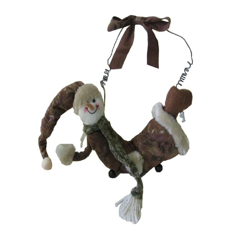 Santa nebo sněhulák závěsný hnědý semiš Provedení: A