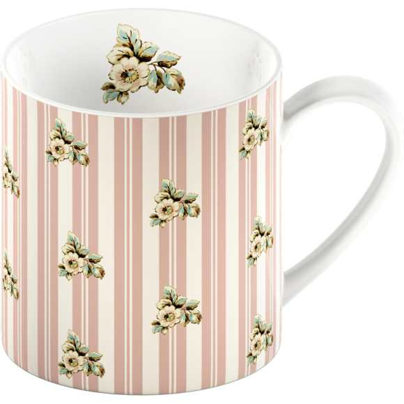 Creative Tops Hrnek Pink Stripes Cottage Flower 0,3l