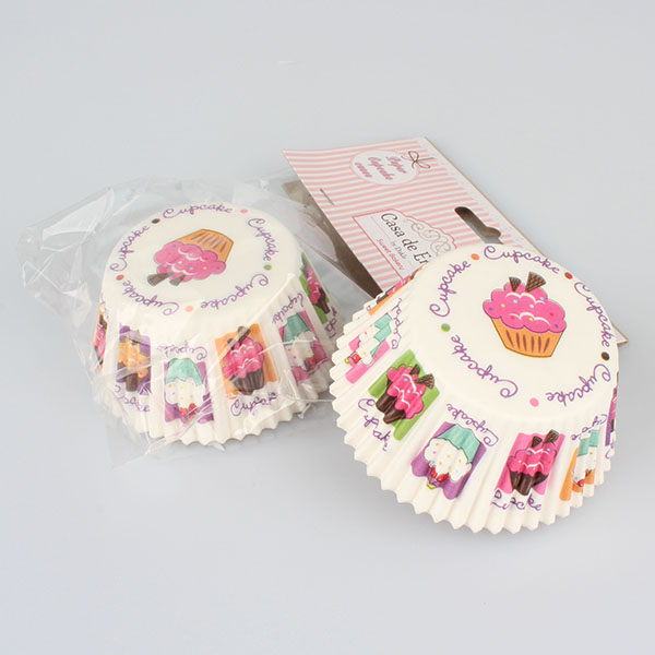 Casa de Engel Papírové košíčky na muffiny 50ks, vzor Cupcake