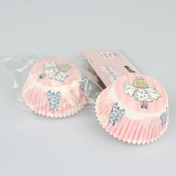 Casa de Engel Papírové košíčky na muffiny 50ks vánoční 11,5cm S motivem: Anděl
