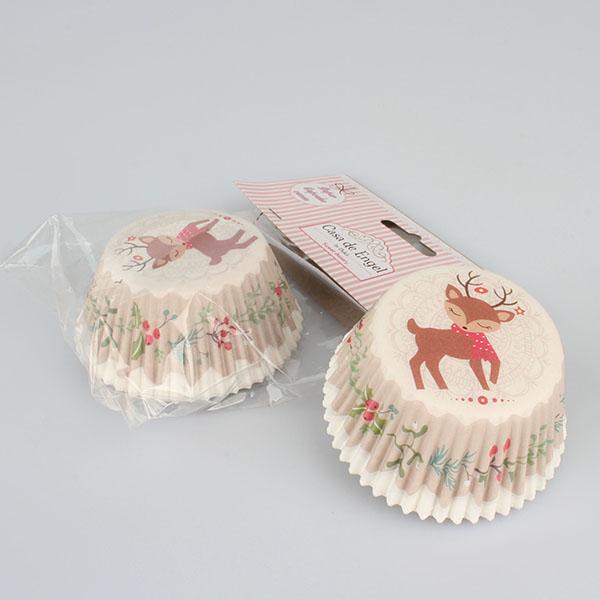 Casa de Engel Papírové košíčky na muffiny 50ks vánoční 11,5cm S motivem: Sob