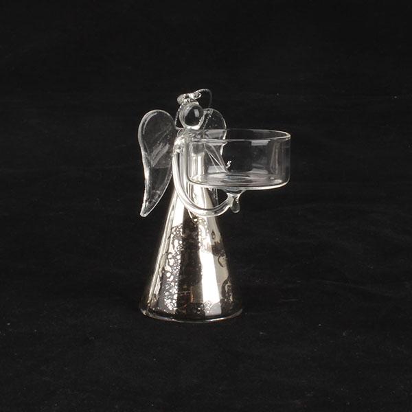 Casa de Engel Skleněný svícen Anděl 15cm a 10cm Velikost: menší