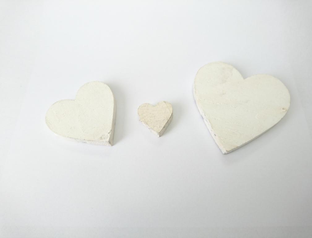 Dekorace srdce baculaté Velikost: střední