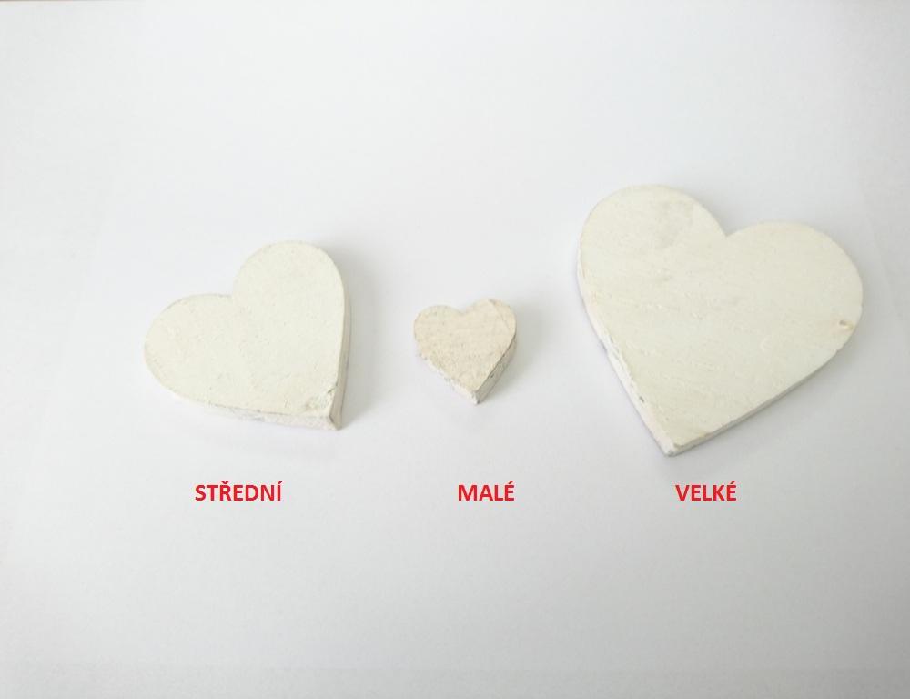 Dekorace srdce baculaté Velikost: malé